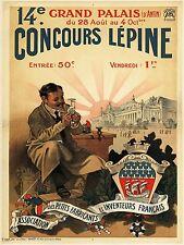 AD Vintage 14ème concours lepine invention CONCOURS PARIS ART PRINT POSTER LF200