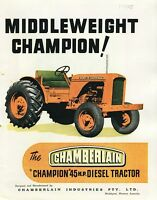 Middleweight Champion! Chamberlain Champion 45hp Deisel tractor brochure reprint