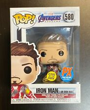 Funko POP Marvel Endgame I Am Iron Man Glows In The Dark PX Preview Exclusive
