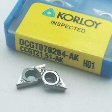 10Pcs DCGT070204 AK H01/DCGT21.51-AK H01 Aluminum blade Inserts Carbide inserts