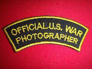 Vietnam War Arc Patch OFFICIAL U.S. WAR PHOTOGRAPHER