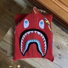 100% authentic Bape Red Neon Shark Hoodie M camo tiger panda bbc #724