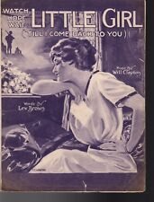 Watch, Hope. Wait Little Girl ('Tell I Come Back To You) Sheet Music  1918
