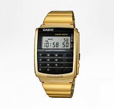 CASIO Uhr Retro Watch Armbanduhr Datenbank Calculator - gold CA-506G-9AEF - NEU