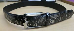 Women Ladies New Shiny Animal Snake Print Belt With Silver Buckle ( 3 Sizes) 013