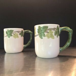 """Franciscan Ivy II """"Grand Mugs"""" NEW, Out Of Prod. By Johnson Brothers. Set Of 2"""