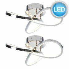 Set of 2 Modern LED Flush Light Loop Fittings Chandelier Ceiling Lights Lighting