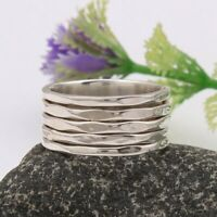 Solid 925 Sterling Silver Spinner Ring Meditation Ring Statement Ring Size st827