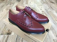 NEW Dr Martens ALLY 14362600 Cherry Red Creeper Shoes Smooth Leather Men's US 13