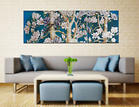 "3PC 16"" Abstract Wall Decor Art Oil Painting on Canvas NO frame Flowers Tree 103"
