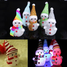 Xmas Gift LED Snowman Santa Claus Ornament Christmas Tree Light Hanging Decor UK