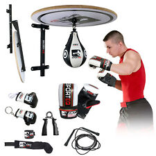Sporteq 13PC Speed Ball Platform Set, Adjustable Bracket Boxing Gloves,Speedball