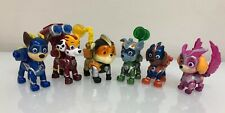 Paw Patrol Mighty Pups Super Paws Figures w/ Transforming Backpacks Complete Lot