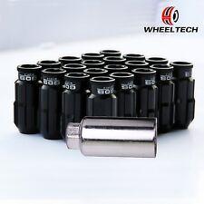 20X Black Alu tuner M12x1.5 50mm for HONDA FORD TOYOTA KIA Wheel Lock Lug Nuts
