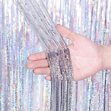Buy 2 Get 1 Free! 10ft Metallic Tinsel Foil Fringe Curtain Party Wedding Decor