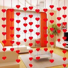 16x DIY Red Heart Hanging Curtain Pendant Bead Kid Children Door Room Swag Decor