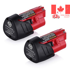 2 Pack 12V 3000mAh Lithium-ion Replacement Battery for Milwaukee M12 12-Volt ...
