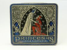 Art Deco PRINCESAS 20 size Oriental Pocket Cigarette Tobacco Tin 1913's
