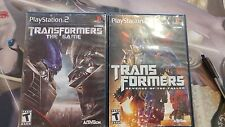 """Sony PlayStation 2 PS2 Transformers Game Lot """"The Game"""" + Revenge Of The Fallen"""
