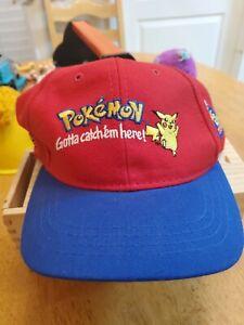 Vintage 90's Pokémon Burger King Promo Hat Nintendo Pikachu