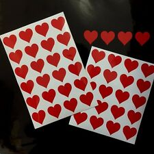 48 x HEART Shaped Self Adhesive Stickers 30mm wide