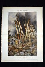 31 juillet 1917 Offensive de l'Yser Bombardement WW1 Guerra 1914 - 1918