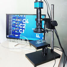 14MP 1080P FHD Industrial Lab Microscope HDMI USB Camera X Y Stage Stand Holder