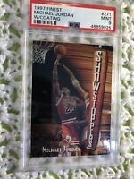 1997 Topps Finest Michael Jordan PSA 9 Mint With Coating Showstoppers Bulls HOF'