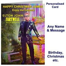ELTON JOHN Concert Farewell UK 2020 Tour Ticket Wallet  Card Birthday, Christmas