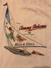 "Tommy Bahama 100%  Silk Medium ""Sails Call"" Hawaiian Camp Shirt"
