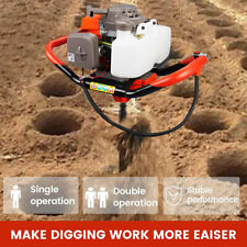 72cc 4hp Gas Powered Post Hole Digger Earth Auger Digging Engine Universal