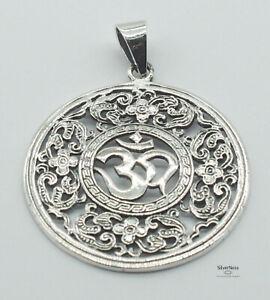 SilverNess Jewellery Om Pendant: 925 Sterling Silver