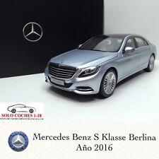 1:18 Mercedes Benz S KLasse Berlina V222 año 2016 color Plata Diamante Norev