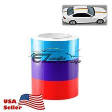 """10""""x59"""" M Racing Stripe Car Sticker Decal For BMW Exterior Hood Roof Bumpers L"""