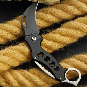 Karambit Folding Knife Hunting Survival Tactical Claw Knife Outdoor Knife New!