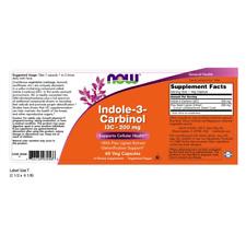 Now Foods Indole-3-carbinol 200 MG 60 Veg Capsules