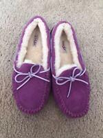 UGG Australia Hailey Women's Sheepskin Suede Loafers $100+tax
