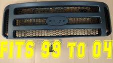 Ford MATTE BLACK Grille CONVERSION fit 1999-2004 No emblem F250 F350 F450 F550