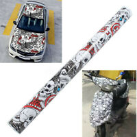 60'' x 20'' Auto Car Sticker Cartoon Skull Graffiti Bomb Vinyl Wrap Sheet Film