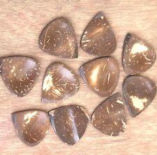 10 handcrafted coconut shell Guitar picks plectrum finger picks best music gift