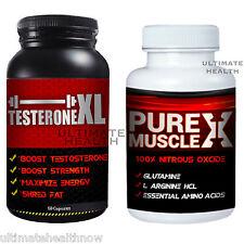 1 TESTERONEXL Best Testosterone Booster 1 PURE MUSCLE X Nitric Oxide Arginine