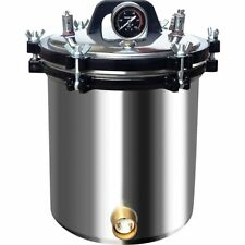 18l110v Steam Autoclave Sterilizer Stainless Steel Dental Lab High Pressure