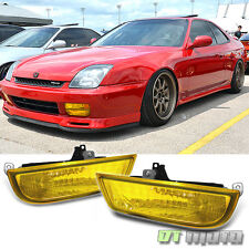 1997-2002 Honda Prelude JDM Style Yellow Fog Lights Lamps w/ Switch Left+Right
