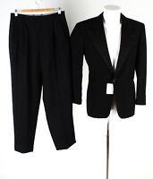 Herren Smoking Gr. 23-24 Anzug Sakko Hose Schwarz Suit Jacket Pants