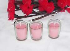 72 Pastel Baby Girl Pink Candle Clear Glass Holder Wedding christening decor