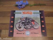 ✪✪✪Antik SAMMLER Prospekt Altes ORIGINAL Norton 1953 Motorrad 12 Seiten