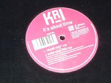 "KRI - It's about time - 1996 UK 12"" 4-track vinyl single"