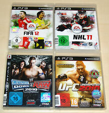 4 PLAYSTATION 3 SPIELE SAMMLUNG SMACKDOWN VS RAW UFC UNDISPUTED FIFA 12 NHL 11