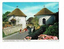 CORNISH POST CARD COLOUR PHOTO THE ROUND HOUSES, VERYAN