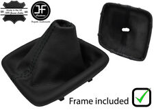 BLACK STITCH LEATHER MANUAL GEAR BOOT + PLASTIC FRAME FOR KIA CEE'D CEED 13-18